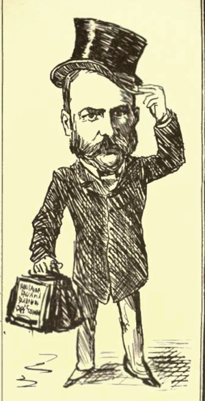 "Jacobus Wilhelmus Sauer - ""Government Sauer"", here caricatured in the 1880s."