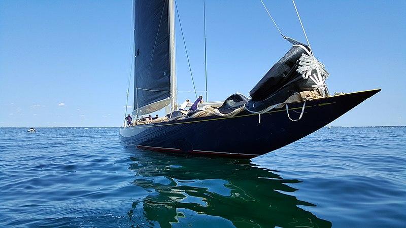 "J class yacht ""Velsheda"" in Newport RI"