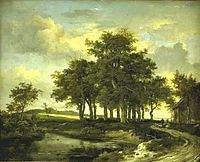 Jacob van Ruisdael - Oak Trees near a Road, Evening.jpg