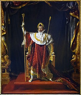 <i>Napoleon in Imperial Costume</i> painting by Jacques-Louis David