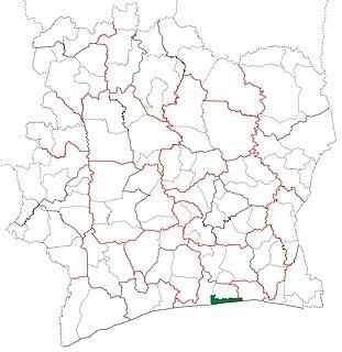 Jacqueville Department Department in Lagunes, Ivory Coast