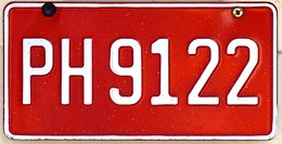 Jamaica taxi license plate 01.jpg