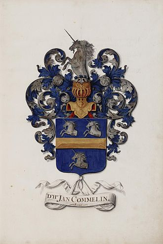 Jan Commelin - Heraldic arms of Jan Commelinby Jan Moninckx
