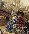 Jan Weenix - An Italian Seaport (detail) - WGA25507.jpg
