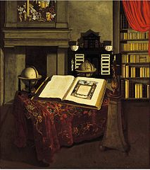 Library Interior with Still Life