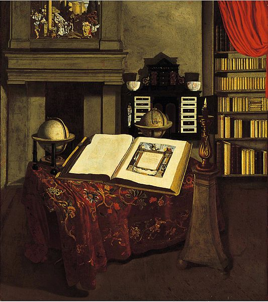 File:Jan van der Heyden - Library Interior with Still Life.jpg