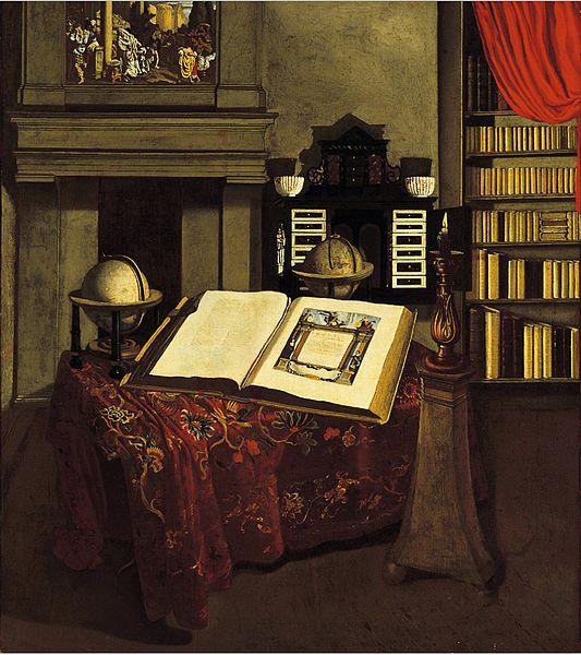 File:Jan van der Heyden - Library Interior with Still Life.jpg