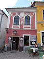 Jankovics House, now museum. Rococo, circa 1770. Monument ID 7368. Decorated with grape leaf's relief, laurel wreath. - Szentendre, Fő square, 19. (Török street cnr).JPG