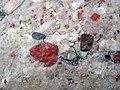 Jasper pebbles in quartzite (Lorrain Formation, Paleoproterozoic, ~2.3 Ga; Ottertail Lake Northeast roadcut, near Bruce Mines, Ontario, Canada) 17 (47656097642).jpg