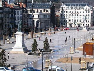 Place de Jaude Public Square in Auvergne, France
