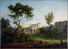 Jean-Baptiste-François Génillion: Das 1788 errichtete Haus von Beaumarchais und die Bastille. (Quelle: Wikimedia)