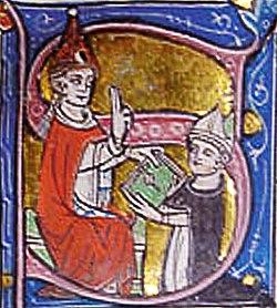Jean XXII bénissant Bernard Gui.jpg