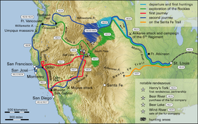 California Trail Wikipedia - Map of us gold migration