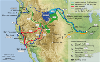 Old Spanish Trail (trade route) - The exploration of the West by Jedediah Smith
