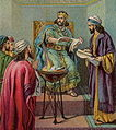 Jehoiakim Burns the Word of God (Bible Card).jpg