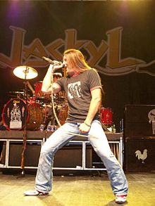 Jesse James Dupree on stage with Jackyl