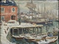 Jetty, Lofoten. Study from North Norway (Anna Boberg) - Nationalmuseum - 21446.tif