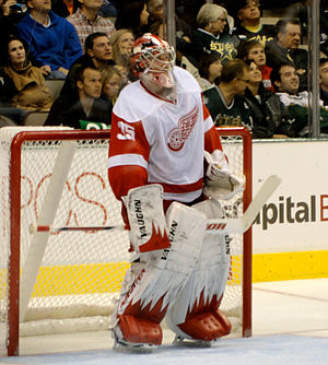 Jimmy Howard - Howard at Dallas' American Airlines Center in 2010