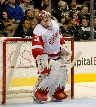 Jimmy Howard - Howard at American Airlines Center in 2010