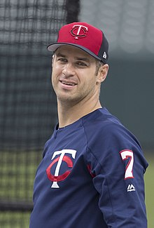 Joe Mauer in 2017 (34025539223).jpg