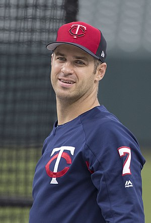Joe Mauer - Mauer with the Minnesota Twins in 2017