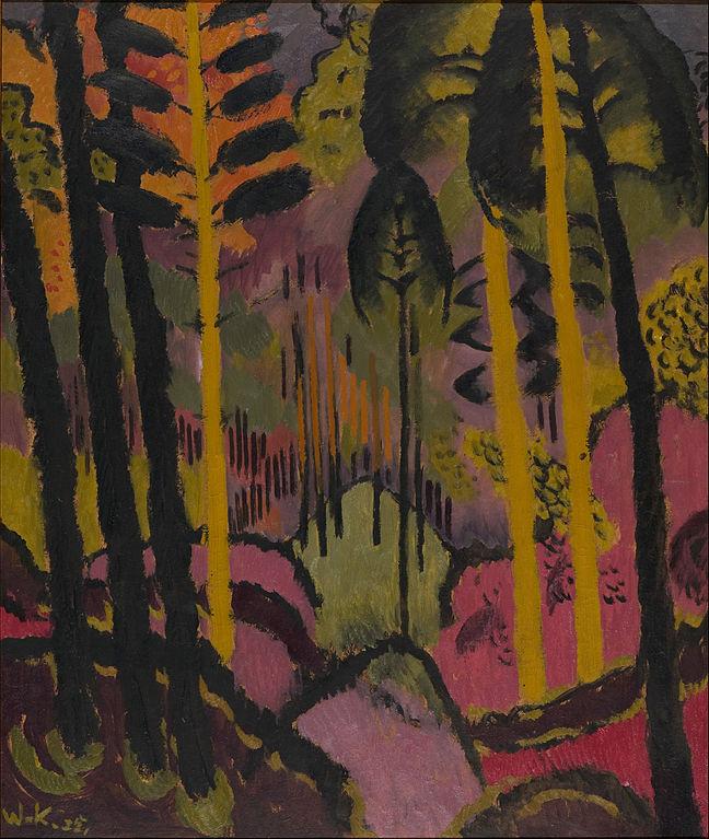 """Johans Valters """"Troncs et feuillages"""" (1925) - Musée National letton."""