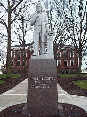 University of Akron - John R. Buchtel, in front of Buchtel Hall