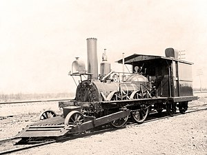 Pilot (locomotive) - Leading truck and pilot on the John Bull