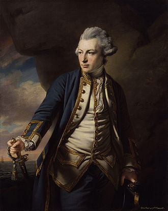 John Jervis, 1st Earl of St Vincent - A young Captain John Jervis by Francis Cotes courtesy of the National Portrait Gallery