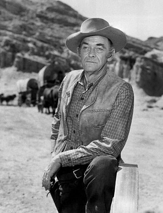 John McIntire - McIntire as Chris Hale in Wagon Train (1961)