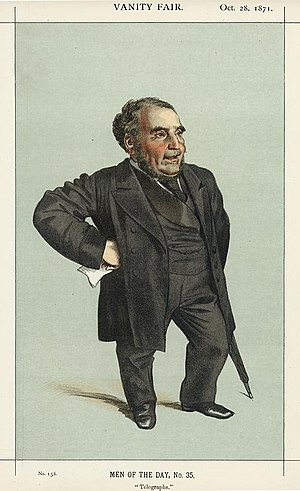 "Pender Chair - ""Telegraphs"" Pender as caricatured by James Tissot in Vanity Fair, October 1871"