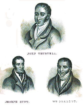 Radlett murder - Killer John Thurtell, and his accomplices, Joseph Hunt, and William Probert