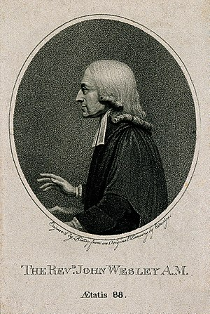 "The Reverend - Portrait of John Wesley, a major religious leader of the 18th century. He is styled The Rev'd, a contraction of ""The Reverend"""