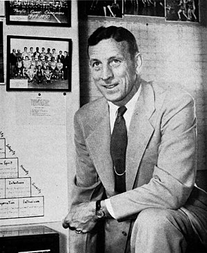 John Wooden - Wooden in 1960, when Rafer Johnson was on the team shortly before he won the decathlon at the Rome Olympics