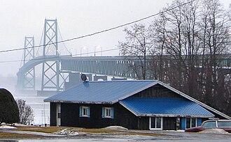 Johnstown, Ontario - Johnstown with the Ogdensburg-Prescott International Bridge in the background