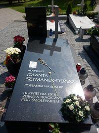 Jolanta Szymanek-Deresz grób.JPG