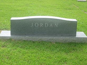 Henderson Jordan - Jordan family tombstone at Arcadia Cemetery in Arcadia, Louisiana
