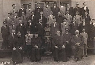 Pope Francis - Jorge Mario Bergoglio (fourth boy from the left on the third row from the top) at age 12, while studying at the Salesian College