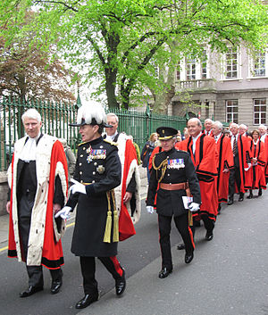 Liberation Day (Channel Islands) - Bailiff, Lieutenant-Governor and other officials in procession on Liberation Day 2012