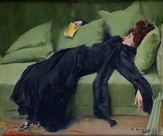 Decadent movement - A Decadent Girl, by Ramón Casas, 1899