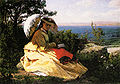 Jules Breton La femme a l'ombrelle 1871.jpg