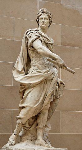 Статуя Цезаря в саду Версальского дворца (1696, скульптор Никола́ Кусту)