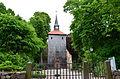 Kühlungsborn, Schlossstraße, ev. Johanniskirche, Kirchturm außen.JPG