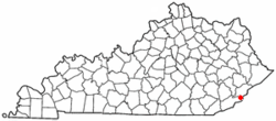 Location of Lynch, Kentucky