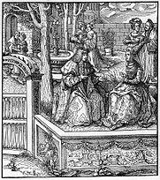 Maximilian and Maria (illustration from Weißkunig)