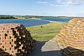 Kalø Slotsruin (Syddjurs Kommune).Vejdæmning.Blik fra forsvarstårn.1.125359.ajb.jpg