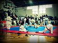 Karatekas esperando competir en Río III.JPG