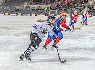 Hockey - Bandy game in Sweden.