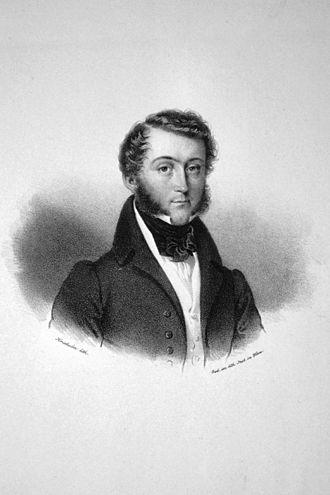 Carl, 3rd Prince of Leiningen - Carl zu Leiningen, lithograph by Joseph Kriehuber (1833)