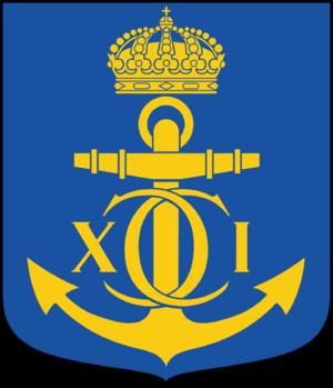 Karlskrona Municipality - Image: Karlskrona kommunvapen Riksarkivet Sverige